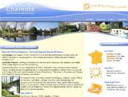 Web design for Charente Accommodation | Masha Design client