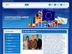 Web design for European Parliament's Sports Intergroup