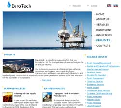 Web design for Eurotech Services - Consulting engineering firm
