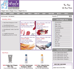 Wiggle Shop - Website client of Masha Design